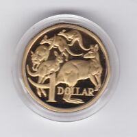 1984 Australia $1 Proof Coin Kangaroo in capsule