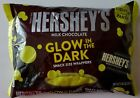 NEW HERSHEY'S MILK CHOCOLATE WITH GLOW IN THE DARK WRAPPERS 9.45 OZ BAG
