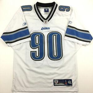 Detroit Lions Mens Jersey Ndamukong Suh #90 Sewn Reebok On Field NFL Football S