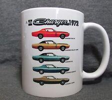 1972 Dodge Charger Line Coffee Cup, Mug ~ New ~ Classic 70's Mopar ~ Sharp!