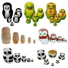 1 Set Nesting Doll Madness Russian Babushka Matryoshka Doll Kids Toys Gift Craft