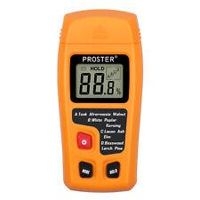 Proster Digital Lcd Wood Moisture Meter Detector Tester Firewood Paper Cardboard