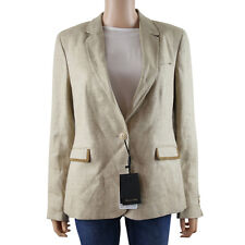 Massimo Dutti Womens Blazer Jacket in Wheat - UK14 rrp €195