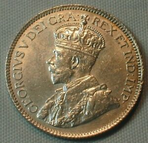 1913 Canada 25 Cents Silver Almost Uncirculated Condition (AU) KM# 25  (Z301)