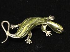 Vintage 800 Sterling Alioto Adriana Enameled Italy Lizard Pin