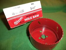 "NEW Milwaukee HD 3-5/8"" Hole-Saw, Bi-Metal w/Cobalt - 6 tpi - Metal/Wood/Plastic"