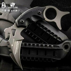 Claw Knife Karambit Hunting Jungle Combat Tactical High Carbon Steel G10 Handle