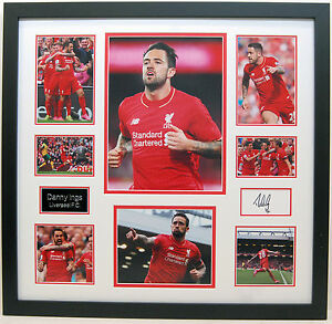 WAREHOUSE CLEARANCE - Danny INGS Signed Framed Huge Liverpool DISPLAY AFTAL