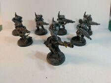 Warhammer 40k KASRKIN SQUAD 8 MINIS inc SERGEANT Metal OOP Rare
