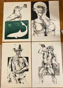 Leonard Baskin - 4 prints from the Moby Dick Suite