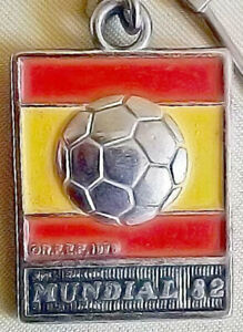 Spain Espana Mundial 82 FIFA Football World Cup Keychain Key Ring