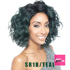 BS120 - ISIS Brown Sugar Human Hair Blend Full Wig MEDIUM WAVY