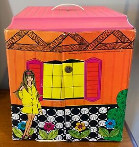 Vintage 1968 Mattel Barbie Family House Carnaby st. with Furniture 1066