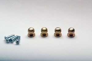 SOLID BRASS SMALL KNOB SET *New Bigger Model* (4 knobs) - PROKRAFT  BK