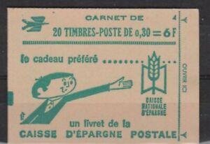 FRANCE CARNET FERME DE 20 TIMBRES CHEFFER 0,30 LILAS - 1536 C3 - DATE 7/12/68
