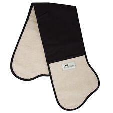 AGA TRADTIONAL DOUBLE OVEN GLOVE BLACK & CREAM - 93CM- W2059BLK