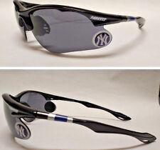 READ LISTING! New York Yankees XL 3D logo on BLACK Blade Sunglasses! Team Colors