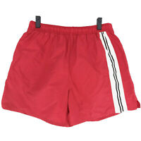 BIKE Vintage Swim Trunks Water Shorts Mens L Large Red White Black Stripe LINED