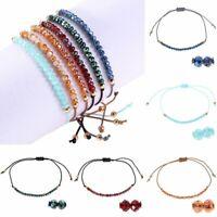 Charm Women Crystal Beaded Bracelet Bangle Handmade Rope String Jewelry Gifts