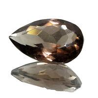20.85Ct. Natural Pear Shape  Smoky Quartz  Brazilian  Gemstone stone-CH 3925