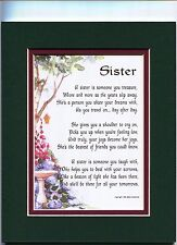 Birthday Gift Present Poem For A Sister, #61A,