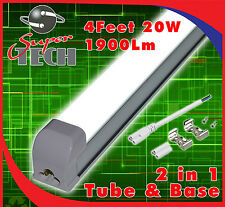 5 X 2 En Uno 1200 mm (4 pies) 20 W T8 Led Integrado Tubo, Blanco Puro 6000k, 1900lm