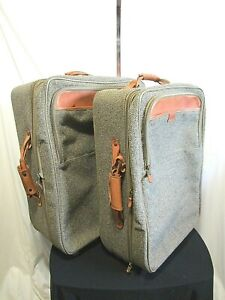 "EUC! Hartmann Tweed 23"" & 21"" Rolling Suitcases Nesting Luggage Set"