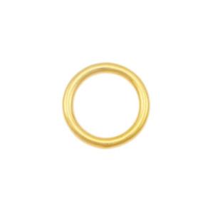 O-Ring 2 Stk. 20,25,30mm Goldfarben Rundring Metall Messing