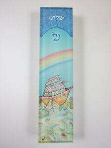 "Small Mezuzah Acrylic NOAHS ARK w NON Kosher Scroll 4"""