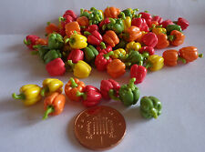 1:12 Scale 8 Mixed Bell Peppers  Doll house Miniatures, Garden , Kitchen