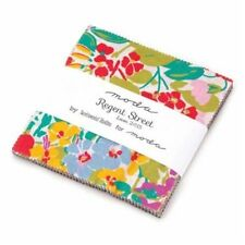 "Moda FABRIC Charm Pack ~ REGENT STREET LAWNS 2015 ~ Sentimental Studios  5"" sqs"