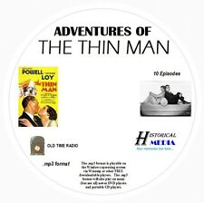 ADVENTURES OF THE THIN MAN - 10 Shows - Old Time Radio In MP3 Format OTR On 1 CD