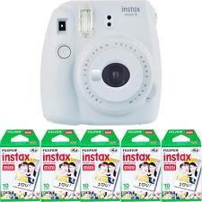 Fujifilm instax mini 9 Instant Film Camera (Smokey White) + 50 Mini Prints