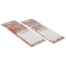 Set di 2 MAGNETICA MEMO PAD shopping list FRIGO Note Board messaggi Notepad NUOVO
