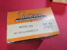 Simpson Model 378 Ac Millameter Ampere Meter Vintage