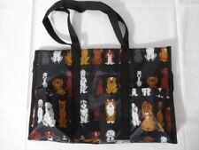 Dog Multipurpose Organizer Tote Bag Grocery Shopping Travel Crafts Black
