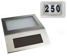 Solar LED Licht Hausnummernleuchte Hausnummer Beleuchtung Edelstahl Kit