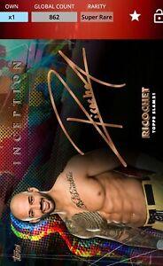 Topps WWE SLAM Ricochet Inception Signature SUPER RARE [Digital Card]
