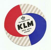 KLM ROYAL DUTCH AIRLINES luggage label