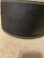 """Harbinger 6"""" Padded Leather Weight Lifting Training Belt, Size XL, Pre-Owned"""
