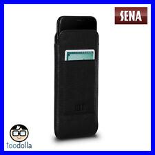 SENA Ultraslim Wallet genuine leather case/pouch & card storage, iPhone X, Black