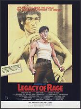 LEGACY OF RAGE__Original 1987 Trade screening AD / poster__BRANDON / BRUCE LEE
