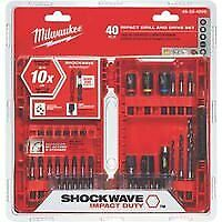 40-Piece Shockwave Drill and Drive Set Milwaukee Electric Tools MLW48-32-4006