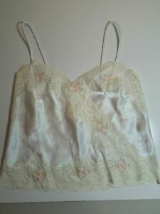 Vintage Victoria Secret Small Satin Lace Tank Nightgown Top