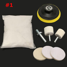 230g White Cerium Oxide Windscreen Scratch Remover Glass Polishing Kit 3'' Pad