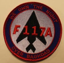 F-117 Stealth Fighter We Own The Night Over Baghdad Desert Storm Air Force Patch