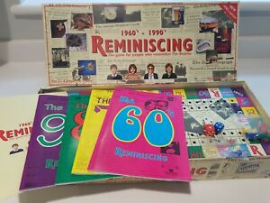 Reminiscing 1960s-1990s  Board Game For People Who Remember the Beatles VGC