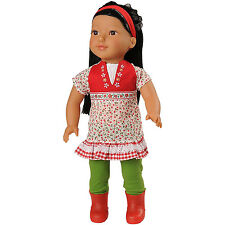 Today's Girl 4 Piece Springtime Style Clothing Set- Fits All 18 Inch Dolls