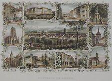 Souvenir de Berne - Seltenes Souvenirblatt von Bern mit 11 Ansichten - 1867
