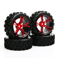 4X RC 1:10 Rubber Rally Tires Wheel 12mm Hex 6mm Offset For HSP HPI Off Road Car